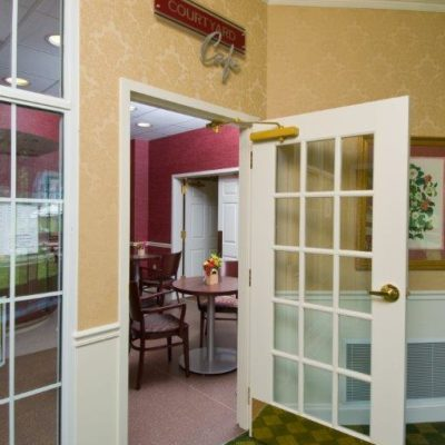 This Is A Photo Of A Doorway With A Door Closer Installed From Serv-U Locksmiths