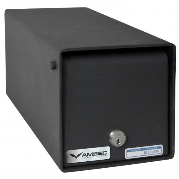 This is a photo of an American Security drop box safe.