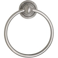This is a photo of a brass bathroom towel ring.