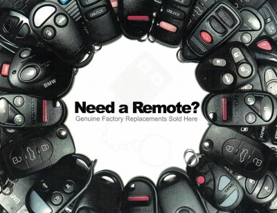 This is a photo of remote fobs in a circle.