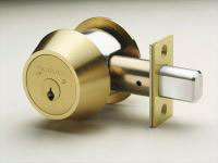 This is a photo of a Medeco deadbolt lock.