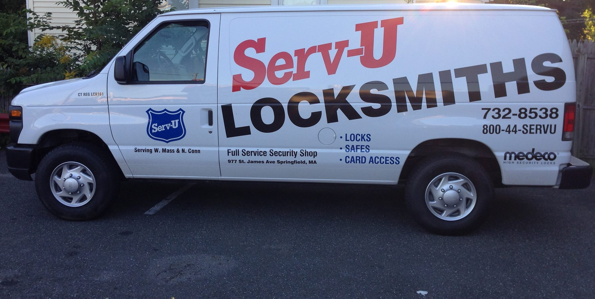 Serv-U Locksmiths van